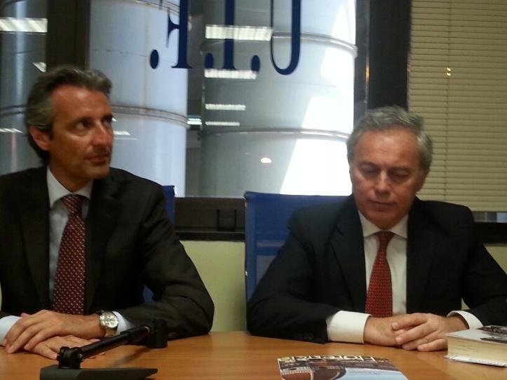 L'Avv. Marino Iannone (UIF) e l'Avv. Francesco Caia (Presidente dell'Ordine degli Avvocati di Napoli)