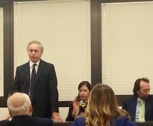 Avv. Francesco Caia - Presidente dell'Ordine degli Avvocati di Napoli Avv. Mirella Casiello - Presidente OUA