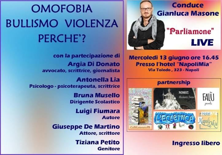 Parliamone live - 13 giugno - Hotel napoli Mia